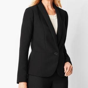 TALBOTS Peplum Crepe Black Jacket Blazer 14